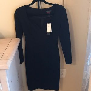 Banana Republic sweetheart 3/4 sleeve black dress